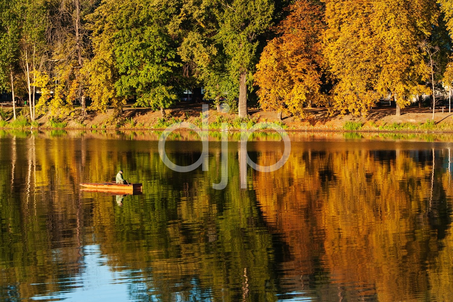 Fall Reflections on the Vltava River
