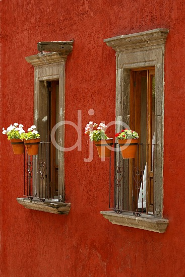 Red Stucco Wall