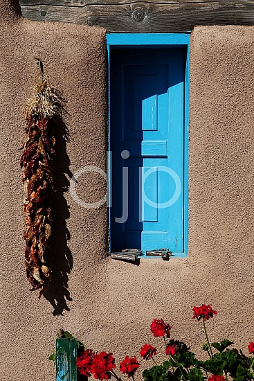 brown, nm, red, taos, window, blue