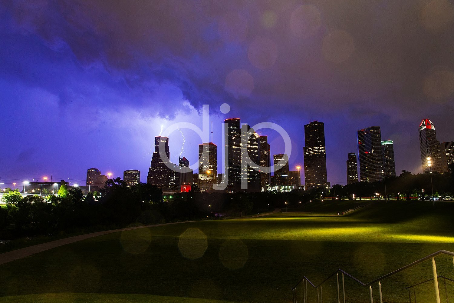 Electric Houston Skyline